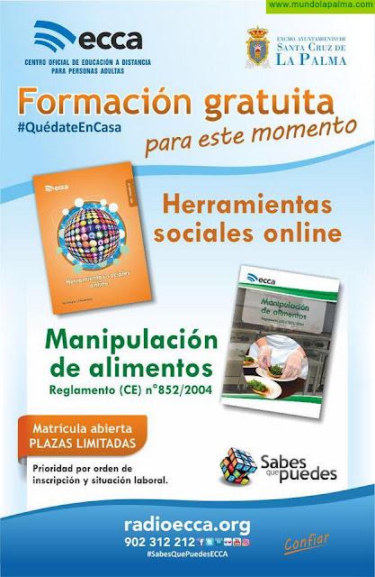 Cursos formativos gratuitos sobre manipulador de alimentos y herramientas sociales online