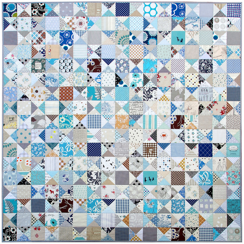 Ohio Star Quilt - The Blues II | © Red Pepper Quilts 2017
