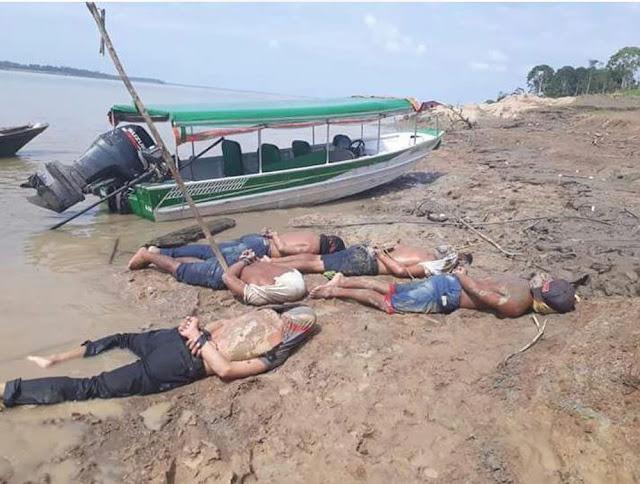 'Piratas' suspeitos de roubos no Rio Solimões são detidos por pescadores no interior do AM
