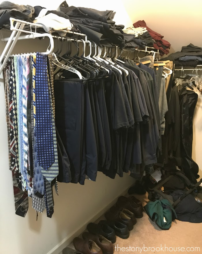 Hubby's closet right side
