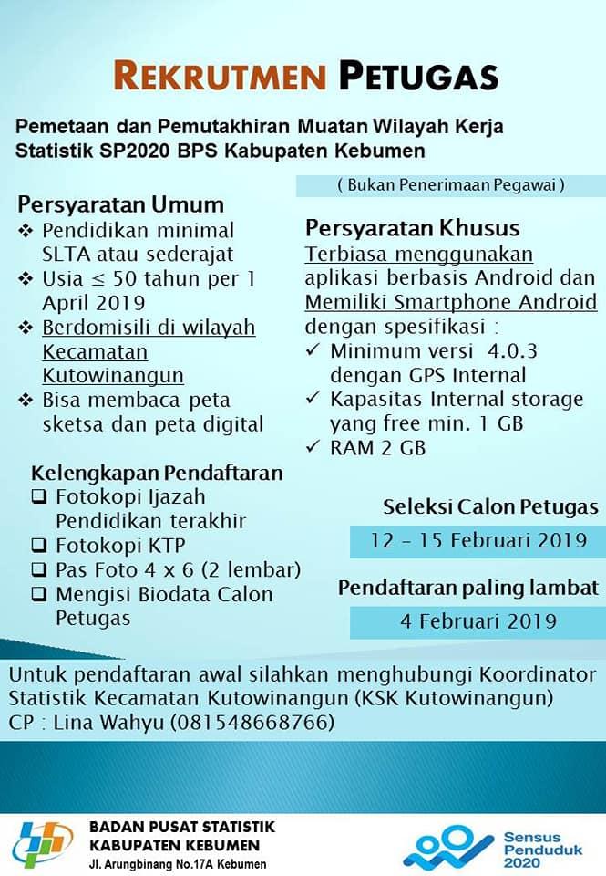 Lowongan Kerja Lowongan Kerja Badan Pusat Statistik Bps
