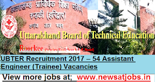 UBTER-Assistant-Engineer-Recruitment-2017