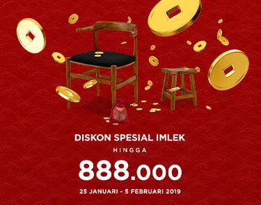 #Fabelio - #Promo IMLEK 2019 Ekstra Diskon Hingga 888 Ribu (s.d 05 Feb 2019)
