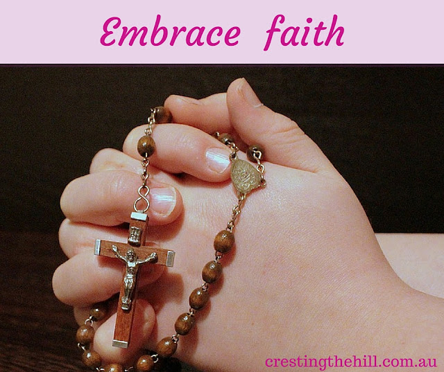 we need to get in touch with our spiritual side - to find faith in something bigger than us