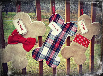 personalized dog bone stockings