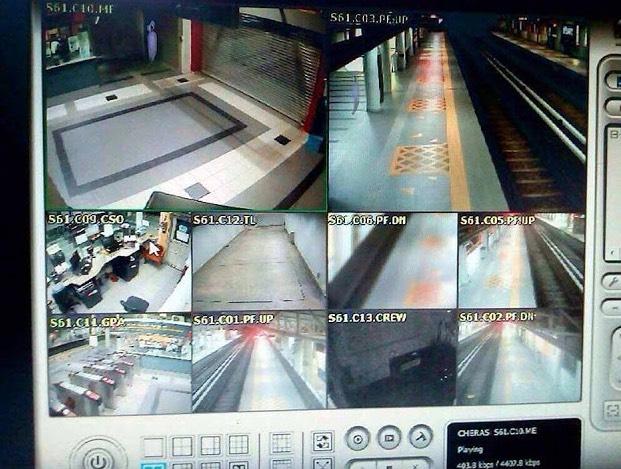 Rakaman CCTV Dakwa 'Pocong' Muncul Di Stesen MRT