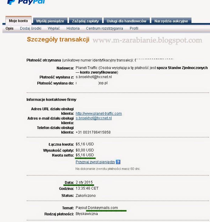 DonkeyMails, Donkey Mails, DonkeyMails.com, dowód wypłaty 2015