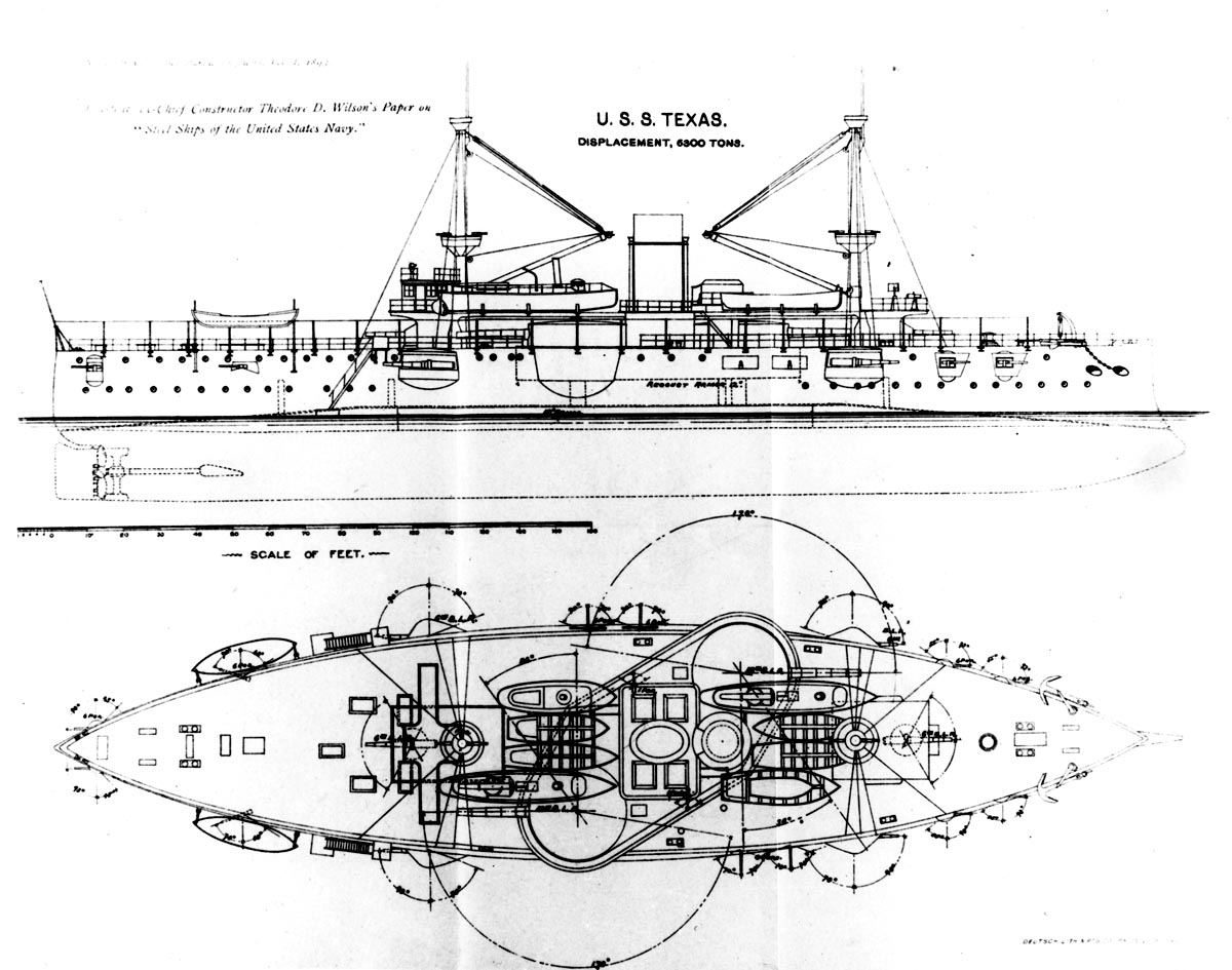hight resolution of both uss texas and uss maine were authorized by congress in august of 1886 as second class battleships second class meant the ship was meant more for