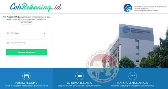 Cara Cek dan Lapor Nomor Rekening Bank di cekrekening.id