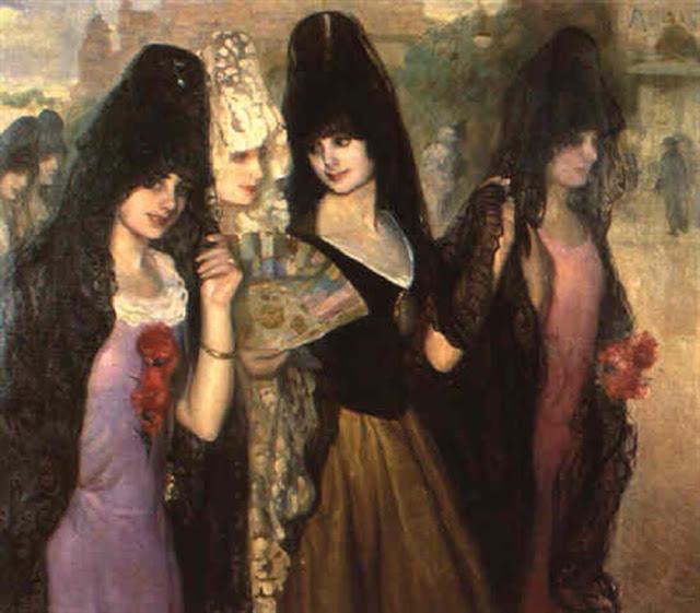 Mujeres de España, Victor Moya Calvo, Pintor español, Pintores Valencianos, Retratos de Victor Moya Calvo, Pintores españoles