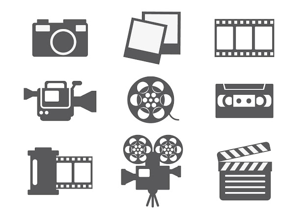 Video Editing Icon Vector Free Camera