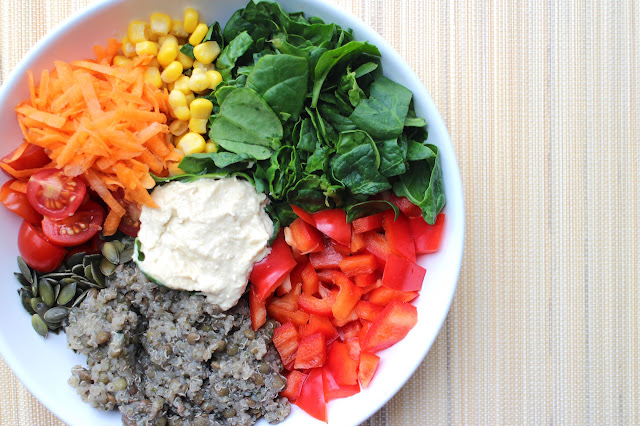 Quinoa and Lentil Salad Bowl