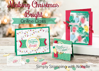 Make cards just like this with easy step to step video instructions with my Making Christmas Bright Online Class. See all the details here - http://bit.ly/MakingChristmasBrightOnlineClass