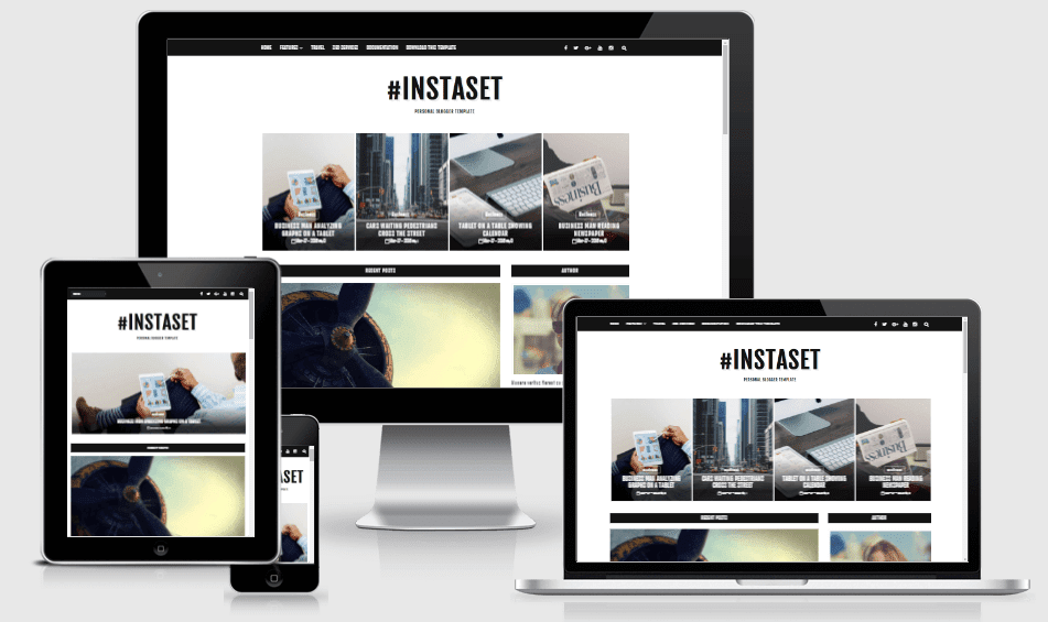 Instaset - Responsive Personal Blog Blogger Template