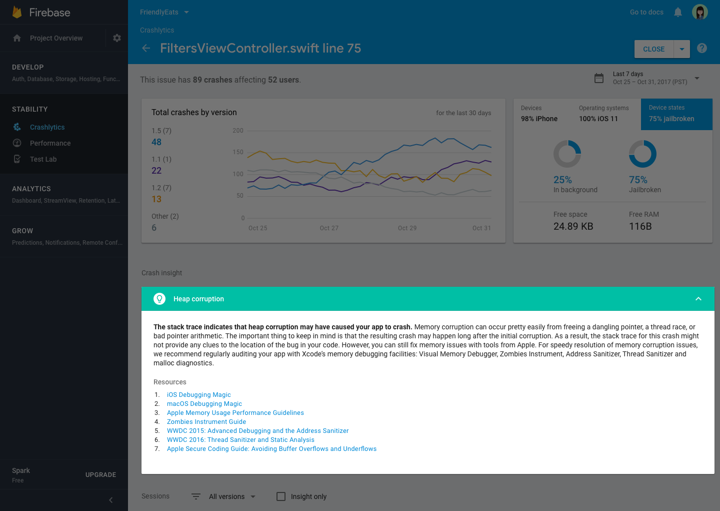 - image4 - Firebase Crashlytics graduates from beta
