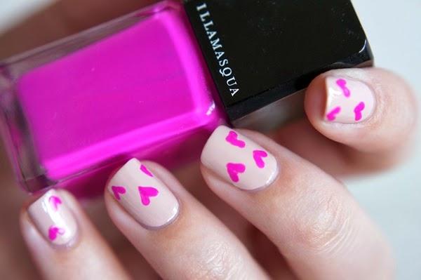 Valentine's Day Red / Pink Leopard nail art