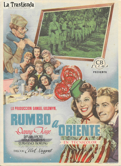 Rumbo a Oriente - Programa de Cine - Danny Kaye - Dinah Shore - Dana Andrews