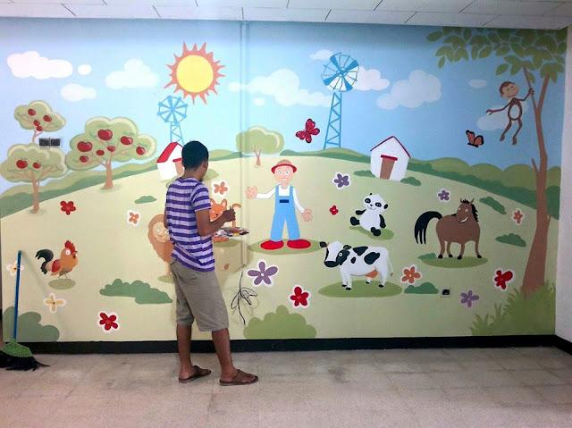 Contoh Lukisan Dinding Sekolah TK