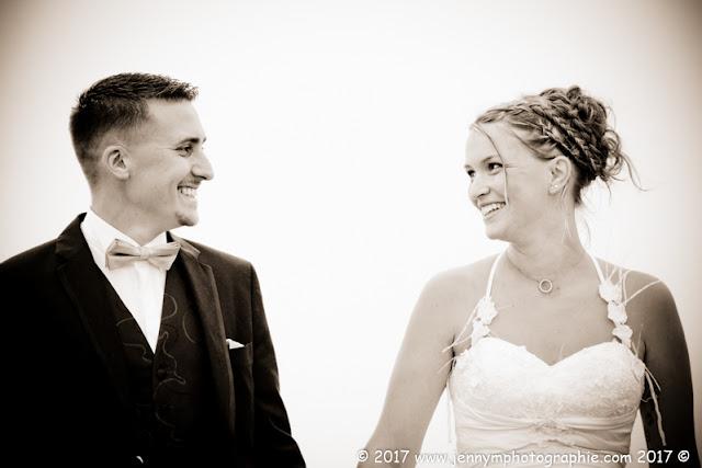 portrait mariés en sépia