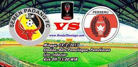 Prediksi Dan Nonton Live streaming Antara Semen Padang Vs Perseru Serui