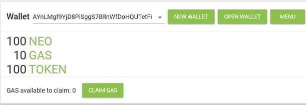 Comprar y consultar saldo de neotracker billetera monedas NEO