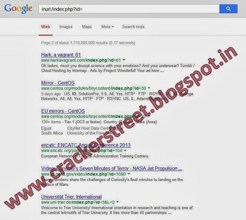 How to Find a Vulnerable Website using Google Dorks[SQL