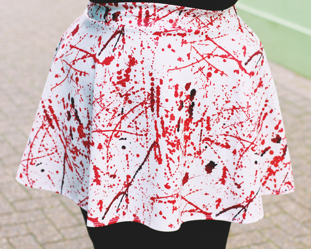 Blood Splatter skirt