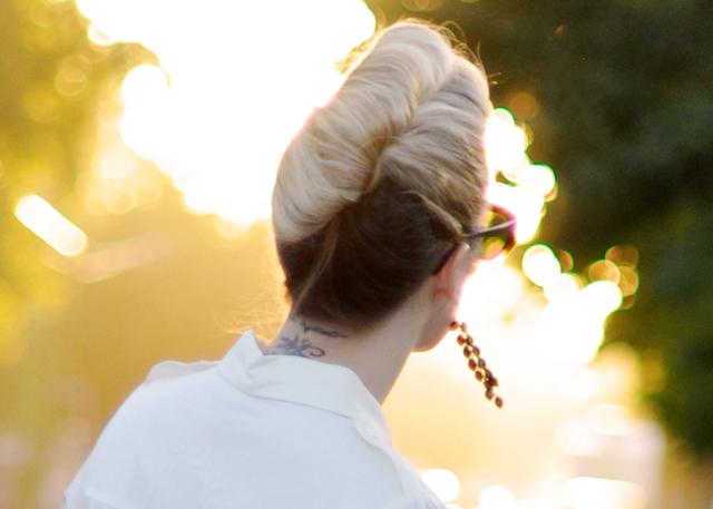 retro updo, high french twist hair tutorial