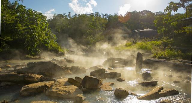El río de agua hirviente, de la leyenda a la comprobación científica. Cabe resaltar que en la zona no hay actividad volcánica.