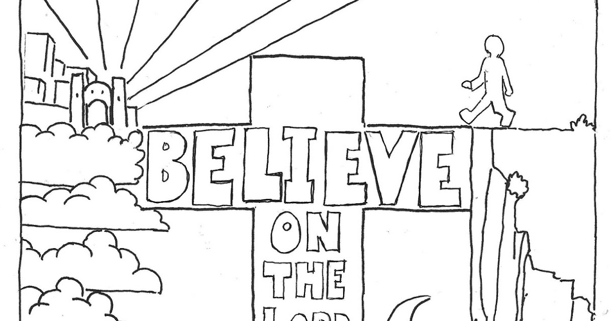 Coloring Pages for Kids by Mr. Adron: Believe on the Lord