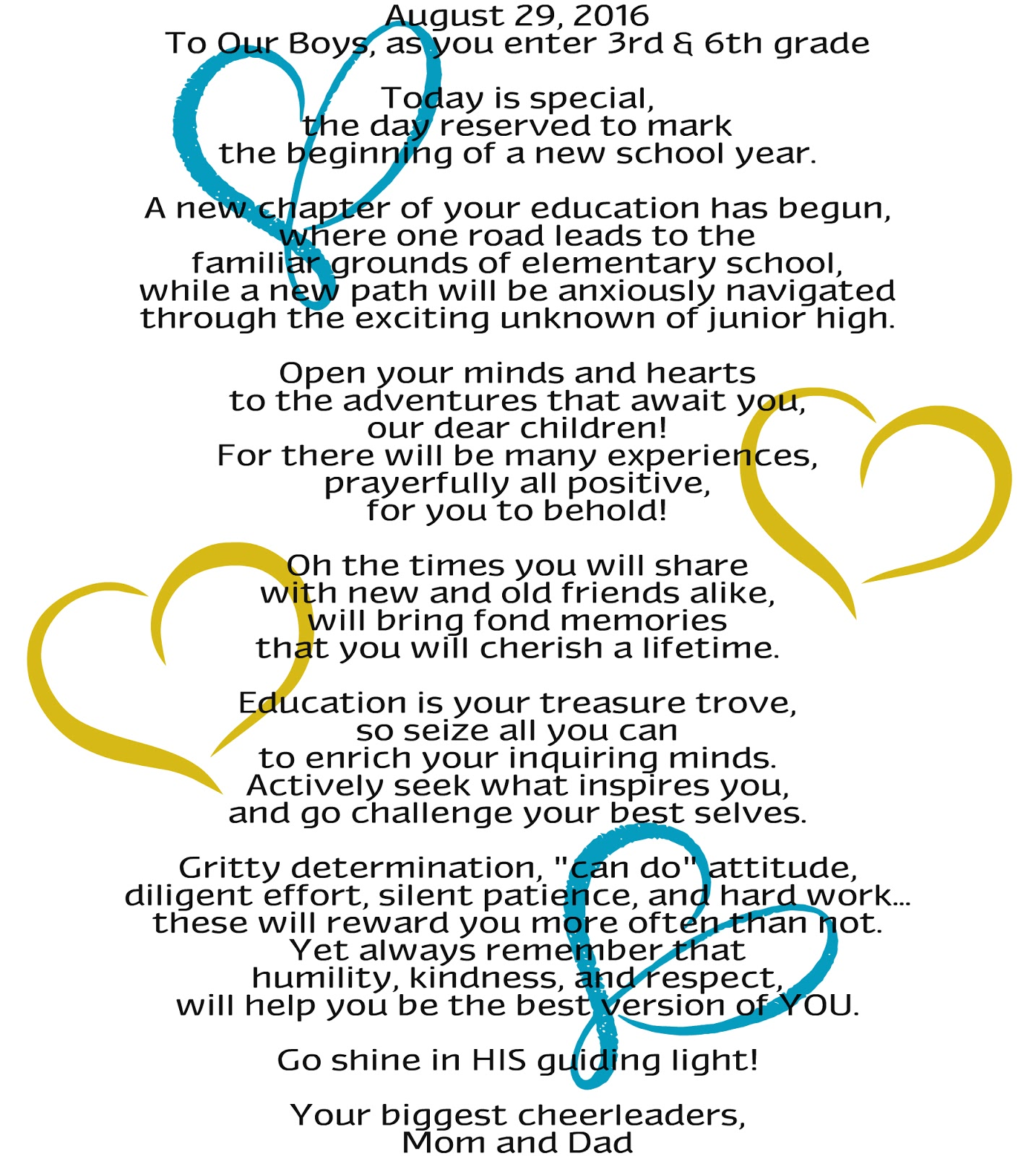back to school poem quote encouragement blessings