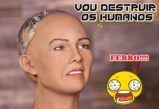 robo quer destruir a humanidade