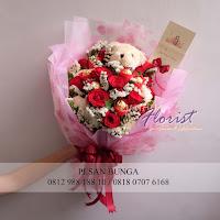 hand bouquet coklat, hand bouquet boneka, toko bunga di jakarta barat,