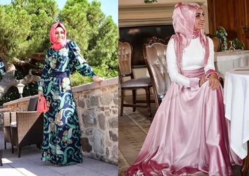 Uzun Boylu Bayanların Tercih Edebileceği 2014 Tesettür Abiye Modelleri