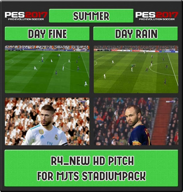 r4 new hd pitch mjts stadium pes 2017 patch pes new patch