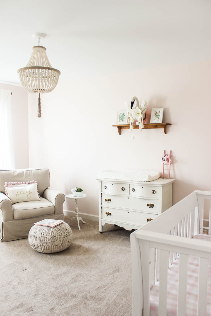 blush pink nursery christmas