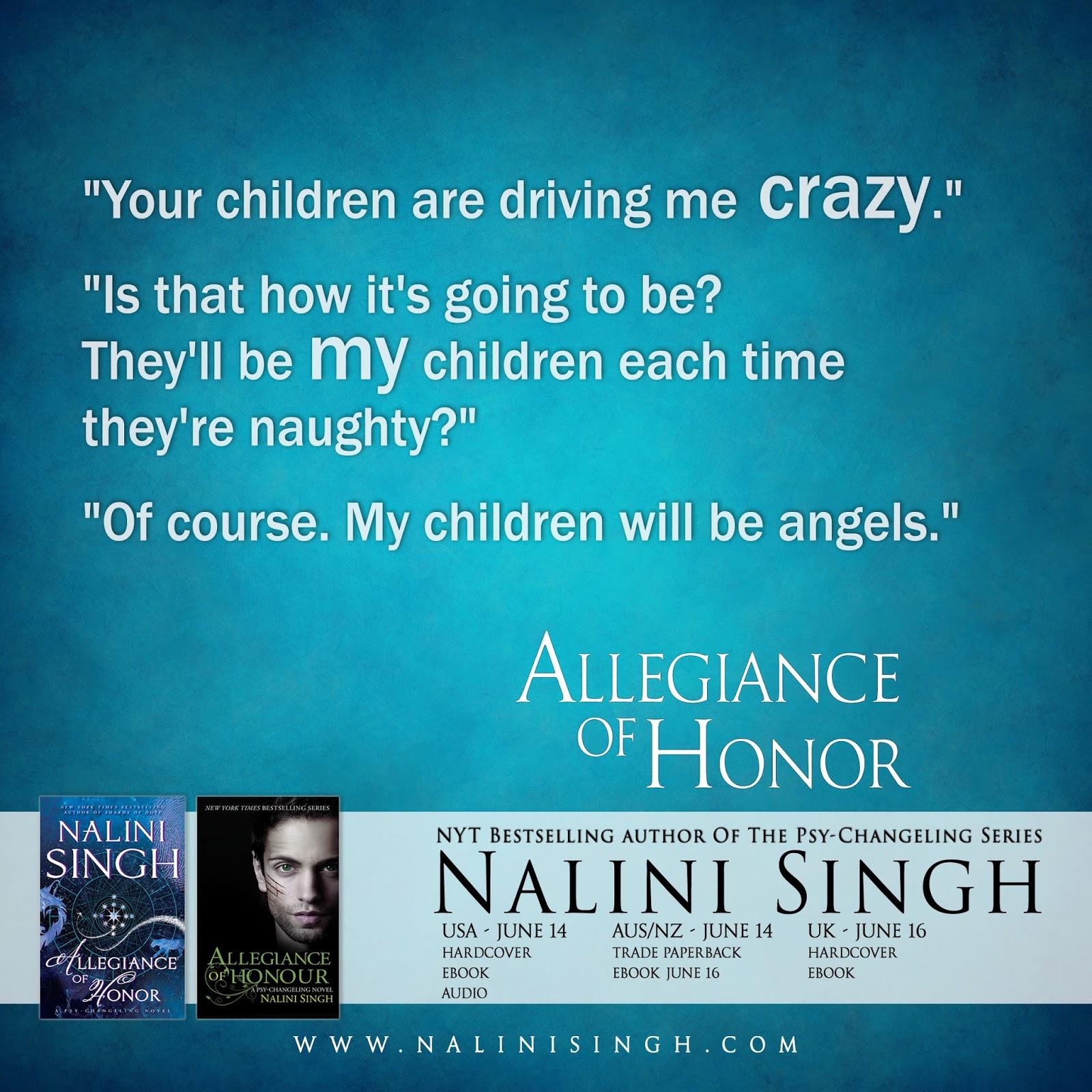 Nalini Singh's Weblog: New Excerpt 2: Allegiance of Honor
