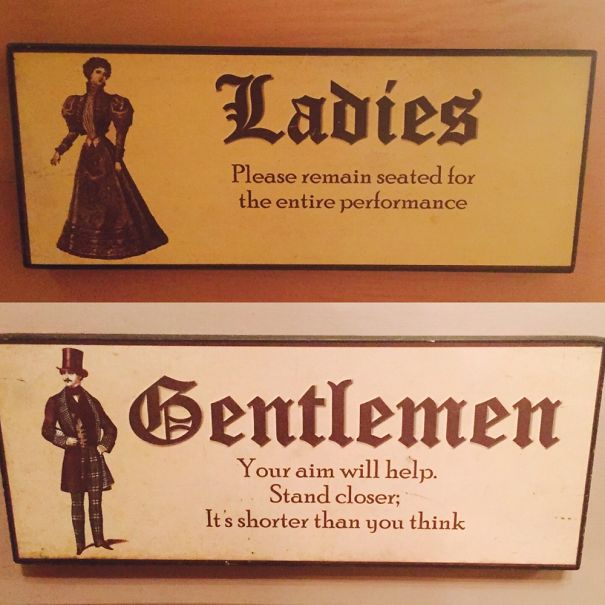 20+ Of The Most Creative Bathroom Signs Ever - Follow These Advices!