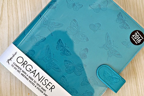 Butterfly teal A5 organiser review