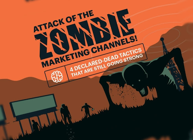 The Attack of the Zombie #Marketing Channels! 4 Declared-Dead Tactics That Are Still Going Strong - #infographic