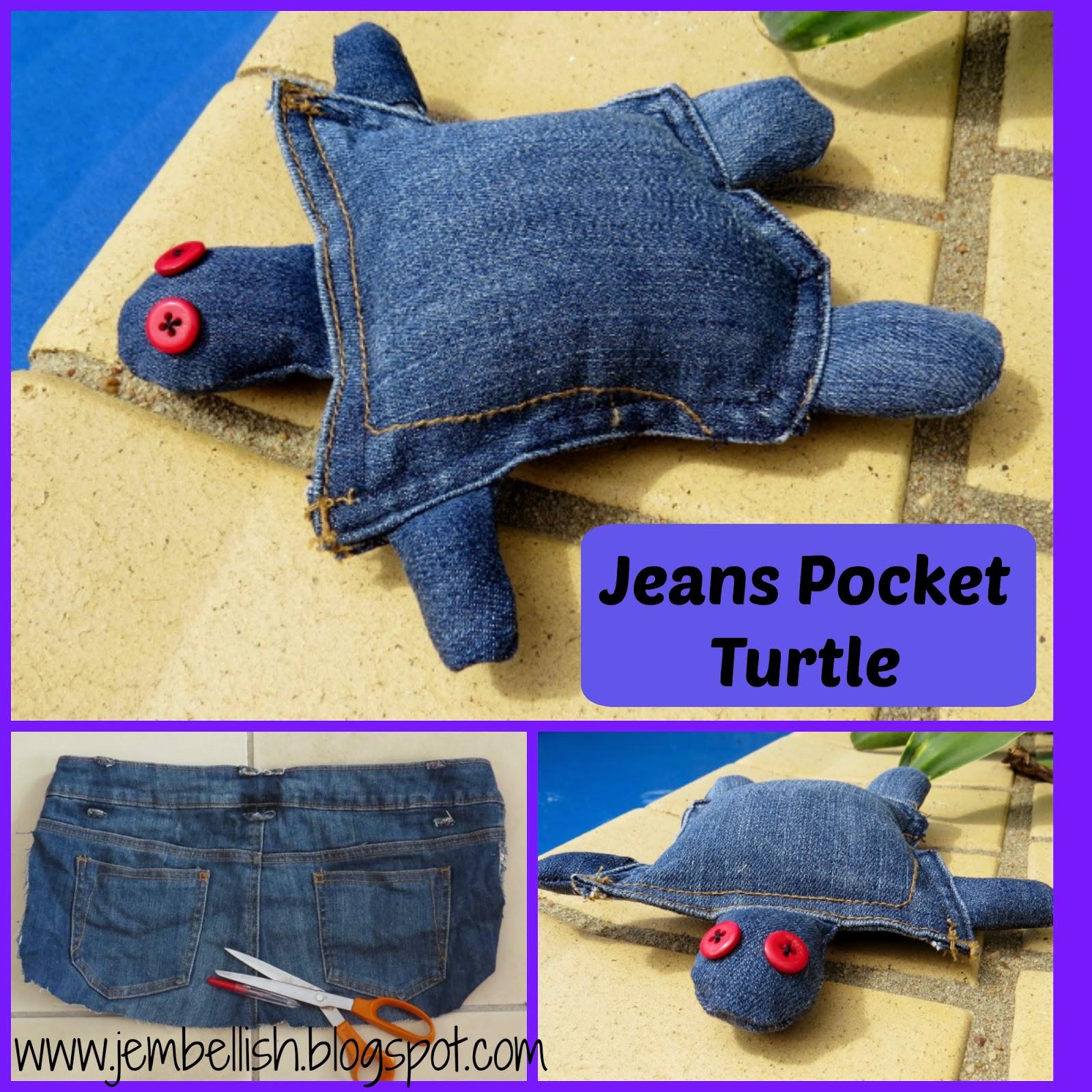 Jeans Pocket Turtle