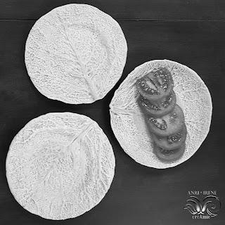 Ceramic lettuce plate