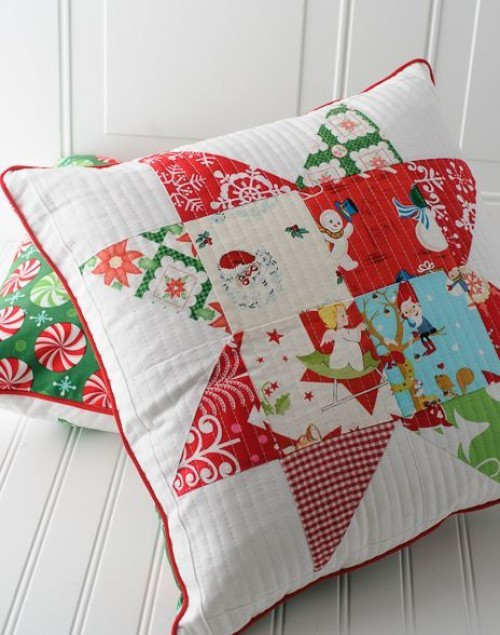 Patchwork Quilted Pillows - Tutorial