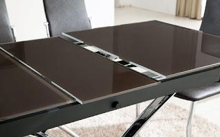 стеклянный стол трансформер