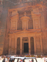 "The Library rock facade in Petra made famous in the movie ""Indiana Jones and The Last Crusade."""