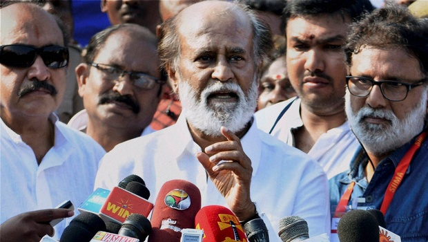 Rajnikanth at TN Elections 2016