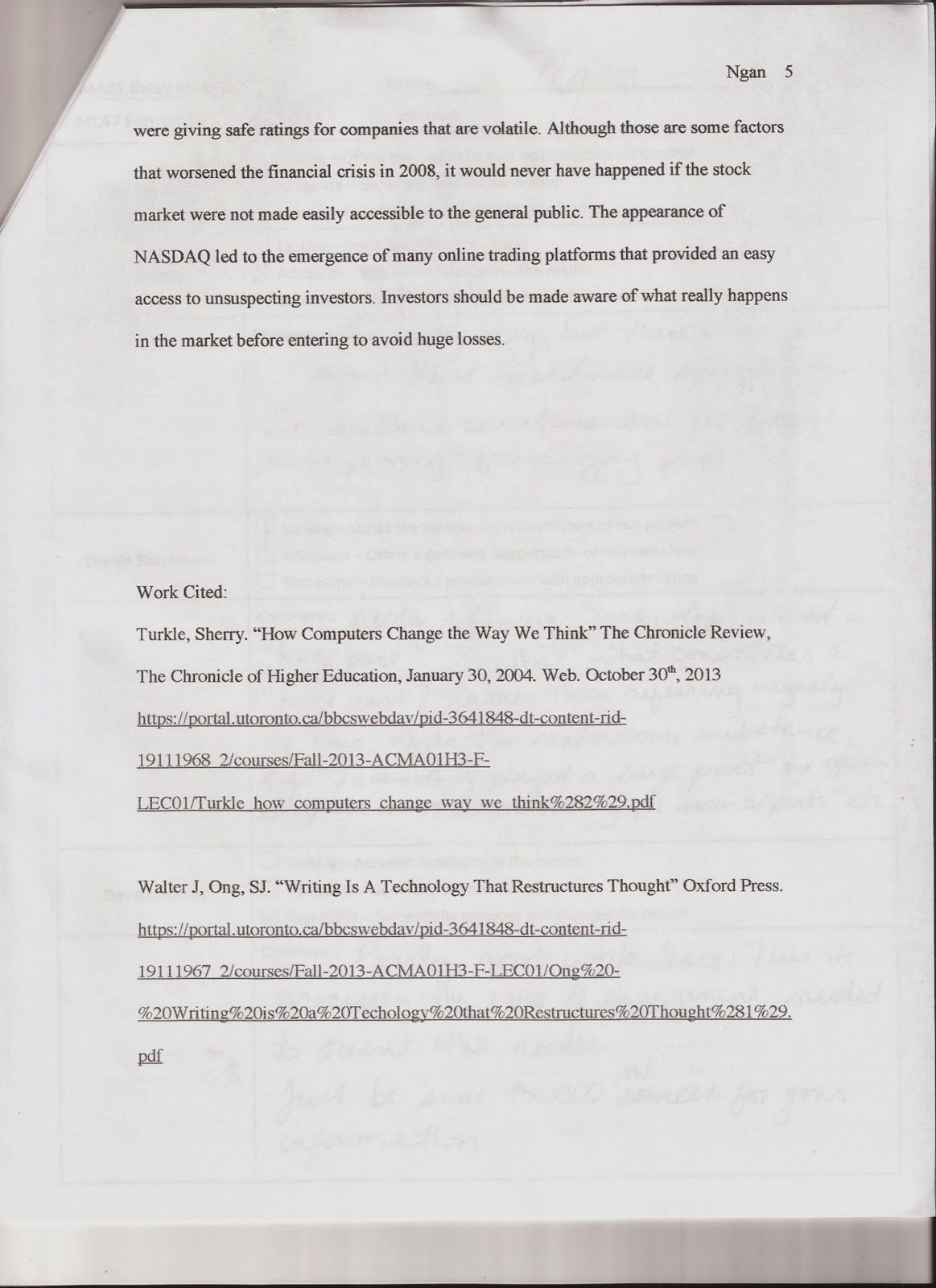 The axe effect essay
