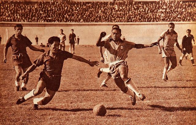 Chile y Brasil en Copa O'Higgins 1957, partido de vuelta