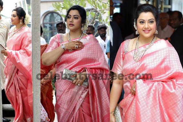 Meena Baby Pink Kanchipattu Saree