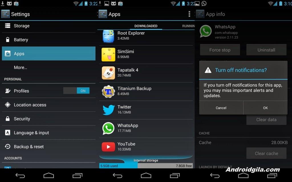 2 Langkah Mudah Menonaktifkan notifikasi Aplikasi di Android